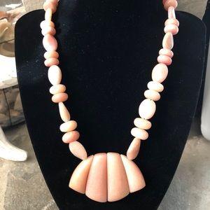 Jay King Sterling Pink Opal Fringe Necklace